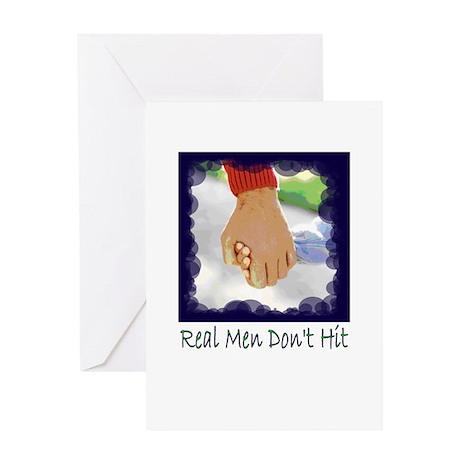 Real Men Don't Hit Greeting Card