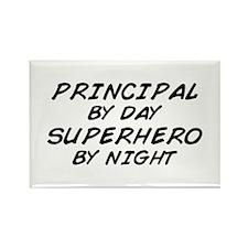 Principal Superhero by Night Rectangle Magnet