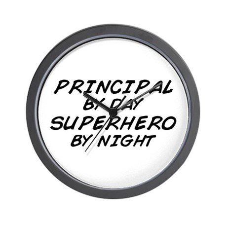 Principal Superhero by Night Wall Clock