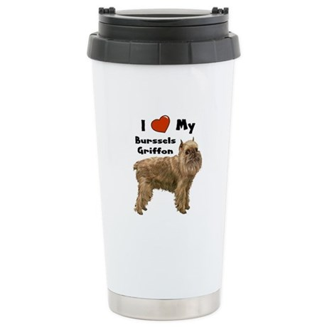 I Love My Brussels Griffon Stainless Steel Travel