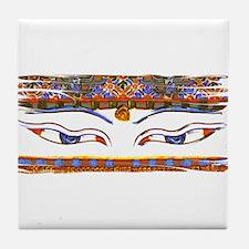 Buddha eyes Tile Coaster