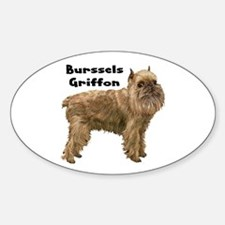 Brussels Griffon Oval Decal