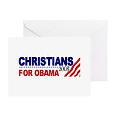 Christians for Obama Greeting Card