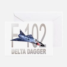 F-102 Delta Dagger Greeting Card