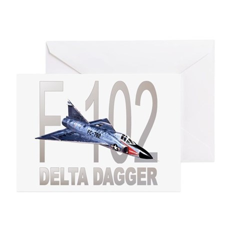 F-102 Delta Dagger Greeting Cards (Pk of 10)