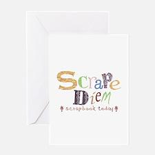 Scrape Diem (Scrapbook) Greeting Card