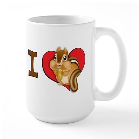 I heart chipmunks Large Mug