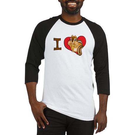 I heart chipmunks Baseball Jersey