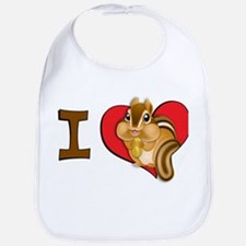 I heart chipmunks Bib