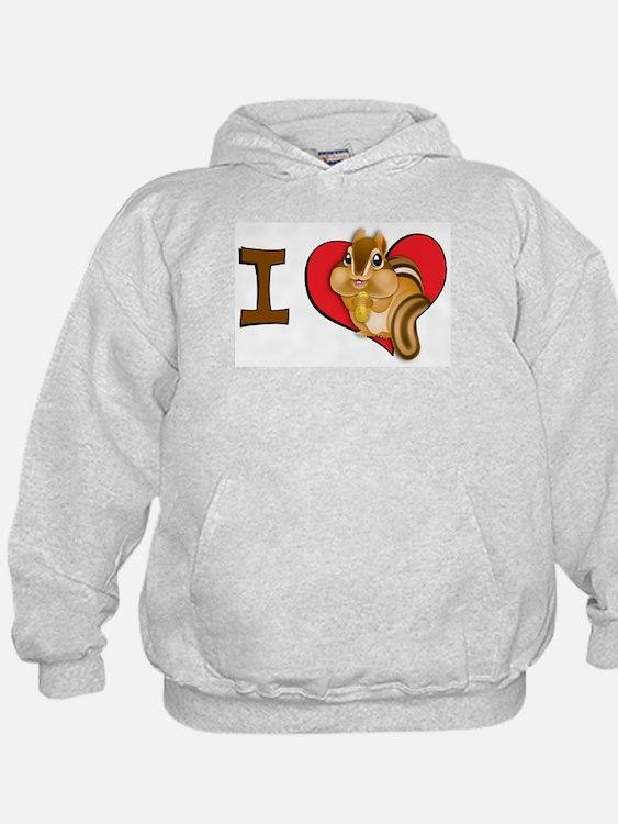 I heart chipmunks Hoodie