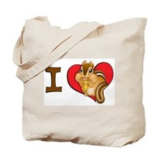 I heart chipmunks Tote Bag
