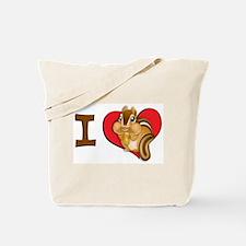 I heart chipmunks Tote Bag