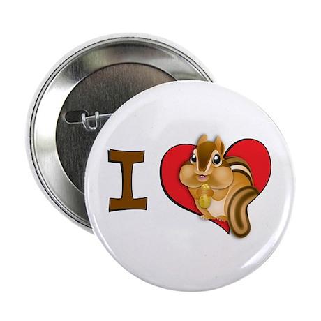 "I heart chipmunks 2.25"" Button (100 pack)"