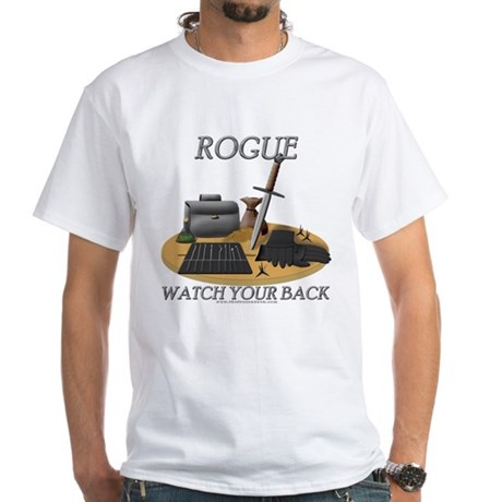 Rogue - Watch Your Back White T-Shirt