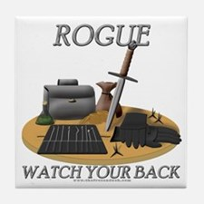 Rogue - Watch Your Back Tile Coaster