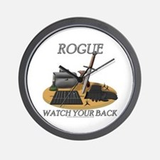 Rogue - Watch Your Back Wall Clock