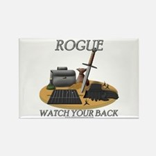 Rogue - Watch Your Back Rectangle Magnet