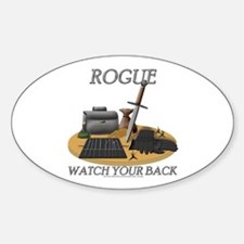 Rogue - Watch Your Back Oval Decal