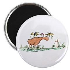 "moose in a swamp 2.25"" Magnet (10 pack)"