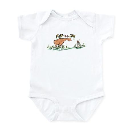 moose in a swamp Infant Bodysuit