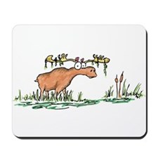 moose in a swamp Mousepad