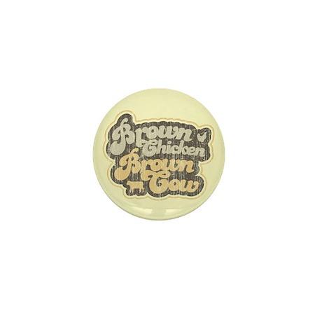 Brown Chicken Brown Cow Mini Button