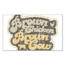 Brown Chicken Brown Cow Rectangle Decal