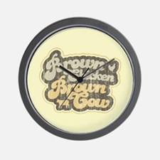 Brown Chicken Brown Cow Wall Clock