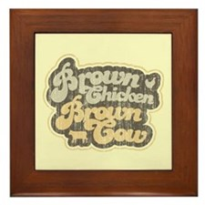 Brown Chicken Brown Cow Framed Tile