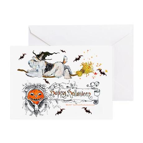 Halloween Fox Terrier Greeting Card