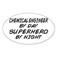 Chemical Engineer Superhero by Night Decal