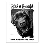 Adopt a Big Black Dog Small Poster