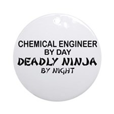 Chemical Engineer Deadly Ninja by Night Ornament (
