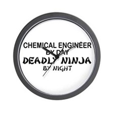 Chemical Engineer Deadly Ninja by Night Wall Clock
