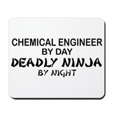 Chemical Engineer Deadly Ninja by Night Mousepad