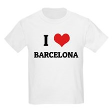 I Love Barcelona Kids T-Shirt