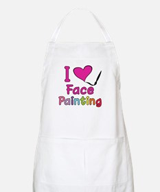 I Love Face Painting BBQ Apron