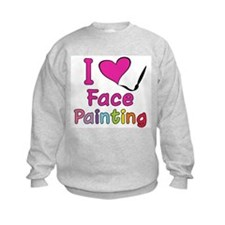 I Love Face Painting Sweatshirt