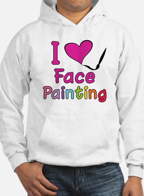 I Love Face Painting Hoodie