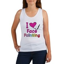I Love Face Painting Women's Tank Top