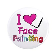 """I Love Face Painting 3.5"""" Button (100 pack)"""