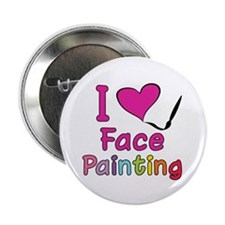 """I Love Face Painting 2.25"""" Button (10 pack)"""