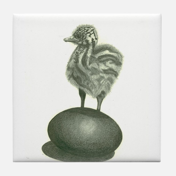 Emu Chick With An Attitude! Tile Coaster