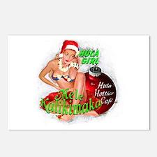 Hula Girl Christmas Postcards (Package of 8)