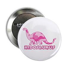 "Kid Dinosaur Pink Camo 2.25"" Button"