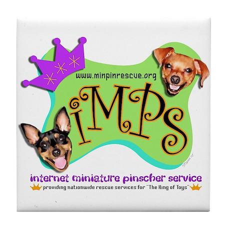 IMPS Smiley Dog Tile Coaster