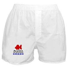 My goldfish for president. Boxer Shorts