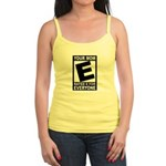 "Your Mom ""Rated E"" Jr. Spaghetti Tank"