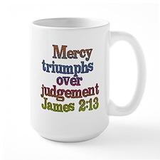 James 2:13 Mug