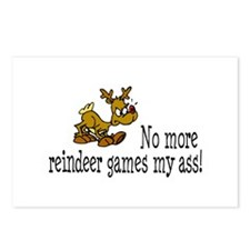 No More Reindeer Games My Ass! Postcards (Package